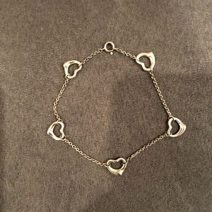 Tiffany & Co. five heart open station bracelet